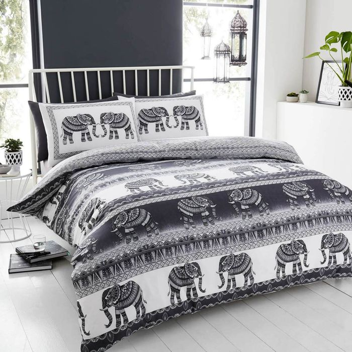King Elephant Bedding Charcoal Grey