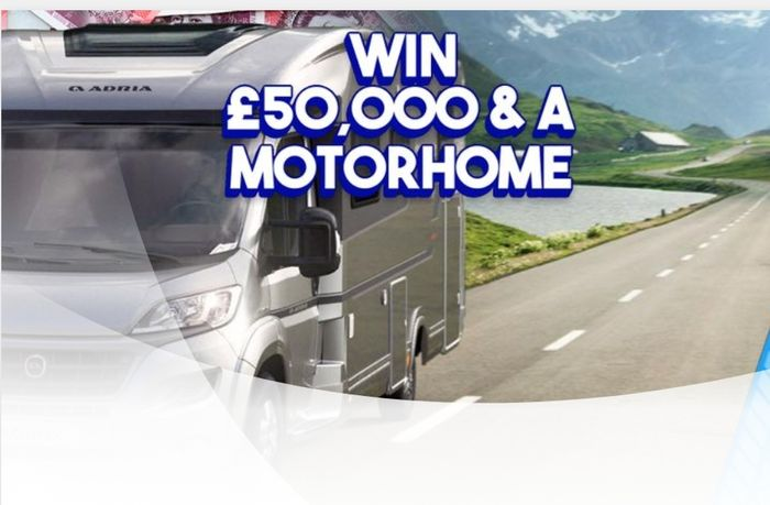 Win a Brand New Motorhome and £50,000!