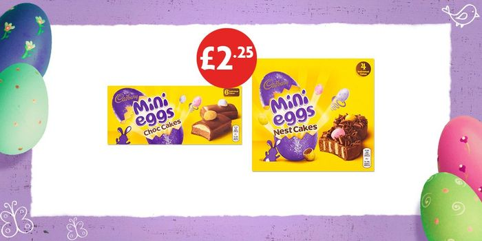 Mini Eggs Chocolate Cakes at Only £2.25