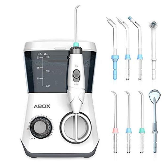 50% off Oral Irrigator Water Flosser with 8 Jet Nozzles and 600ml Reservoir