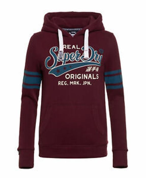 Womens Superdry First Team Hoodie Fig