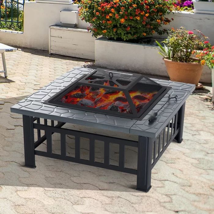 Chilly Outside? Save on this Steel Charcoal Fire Pit