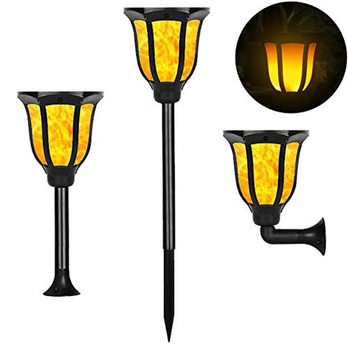 Solar Powered Garden Torch Lights (Pack of 2)