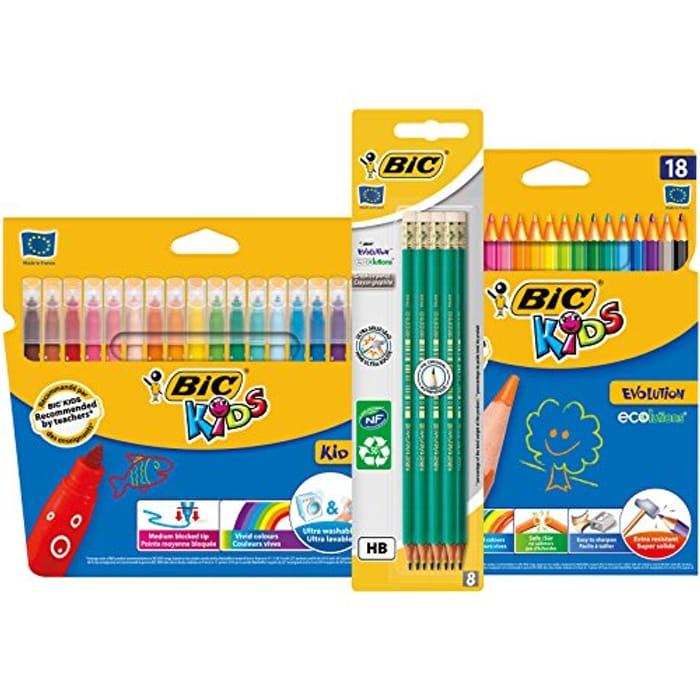 BIC Evolution Original with Eraser , Felt Pens, Colouring Pencils