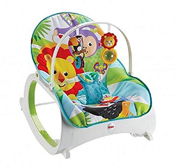 Fisher-Price FMN39 Infant-to-Toddler Rocker, Baby Bouncer Chair