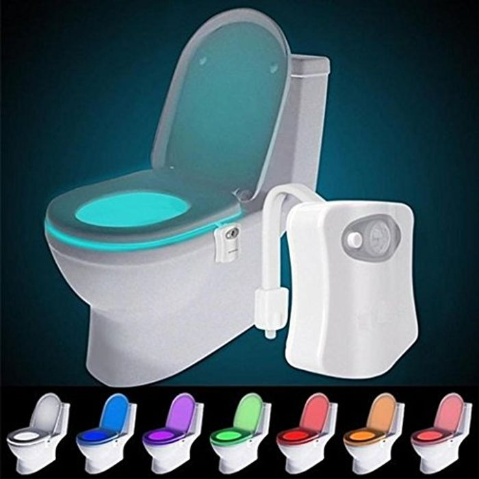 16 Color LED Motion Activated Sensor Toilet Night Light