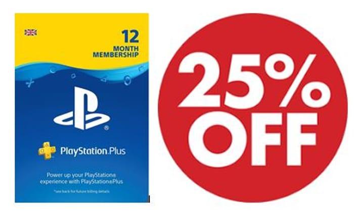 25% off PlayStation Plus: 12 Month Membership