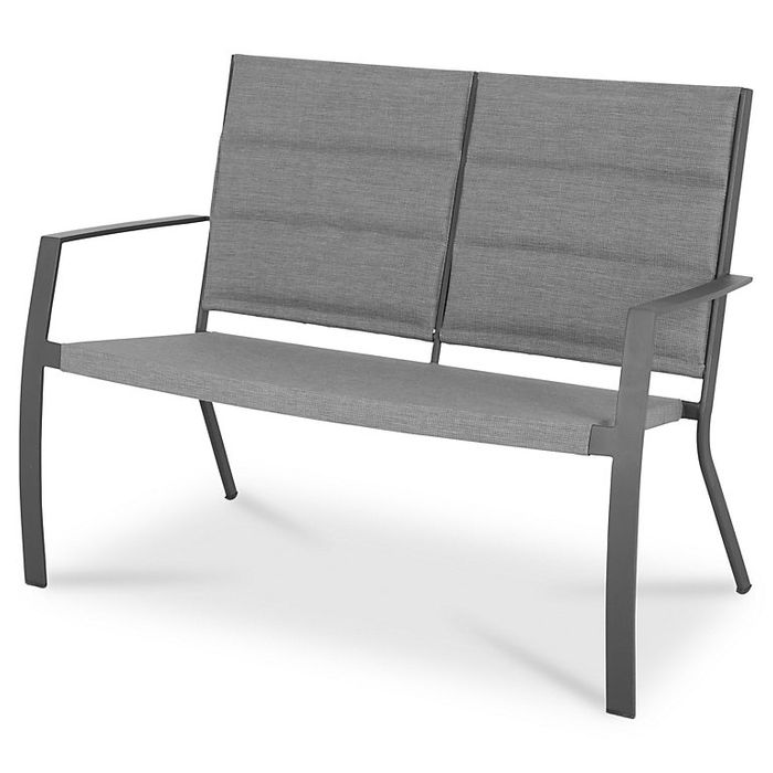 Derry Grey Metal Garden Bench - 58% Off