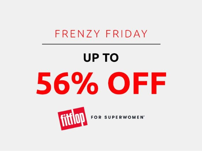 Save up to 56% on Fitflop | Frenzy Friday