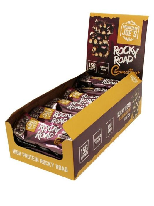 Mountain Joes Rocky Road Protein Bars 12x55g CARAMALLOW FLAVOUR