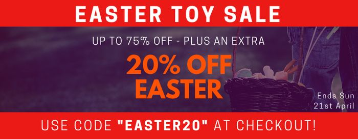 20% off Easter Toys , Games , Decorations + Confectionery