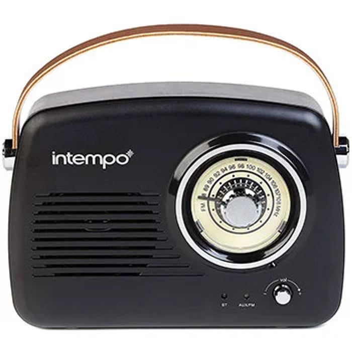 Intempo FM Radio Bluetooth Speaker - Black C&C - Save £5