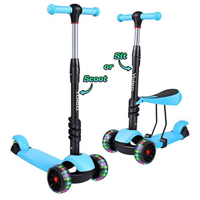Kids 3 in 1 Scooter with Removable Seat - HALF PRICE with Code