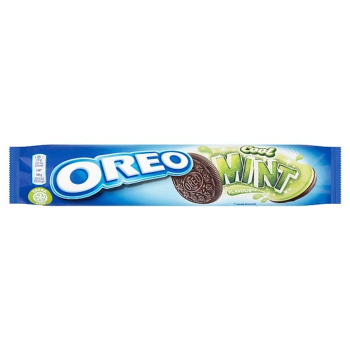Oreo Mint Creme Biscuits 154G at Tesco Half Price