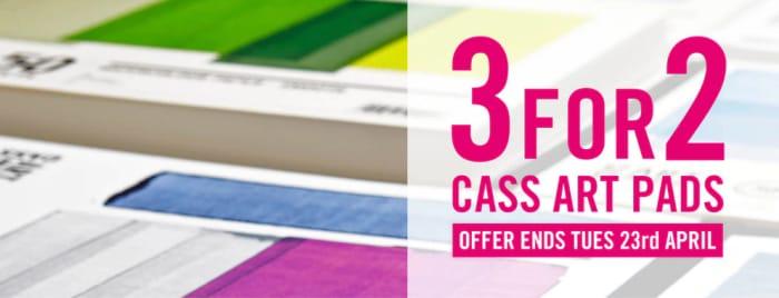 3 for 2 Offer on Cass Art Pads