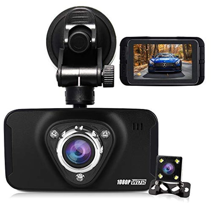 Dual Dash Cam Front and Rear Camera HQBKING 1080P - save 50%