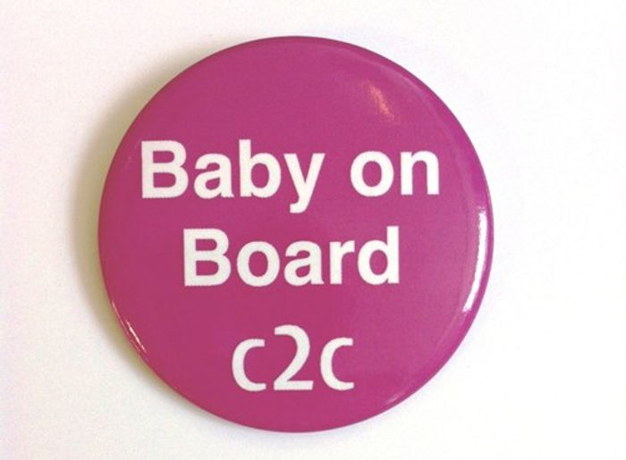 Baby on Board Badge to Wear on C2c Travel