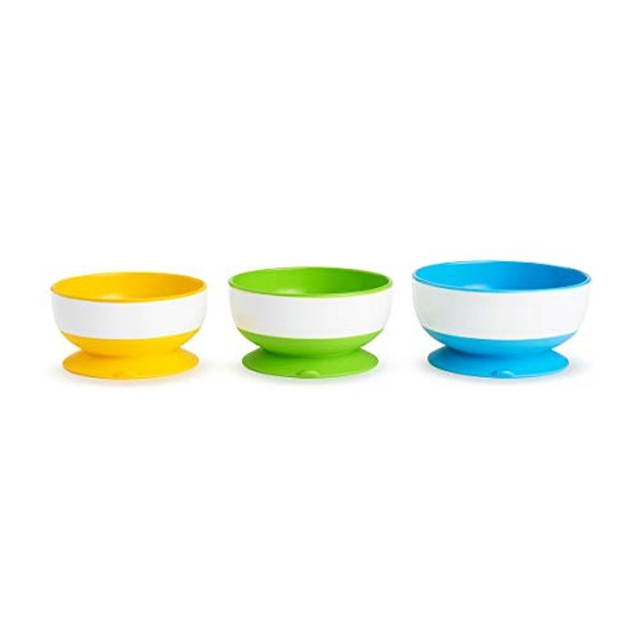 Munchkin Three Stay Put Suction Bowl 3-Pack - 31% Off