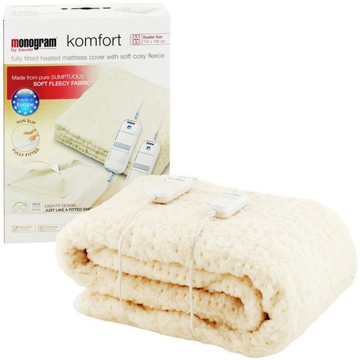 Monogram Komfort Dual Control Heated Mattress Cover - Double - 14% Off