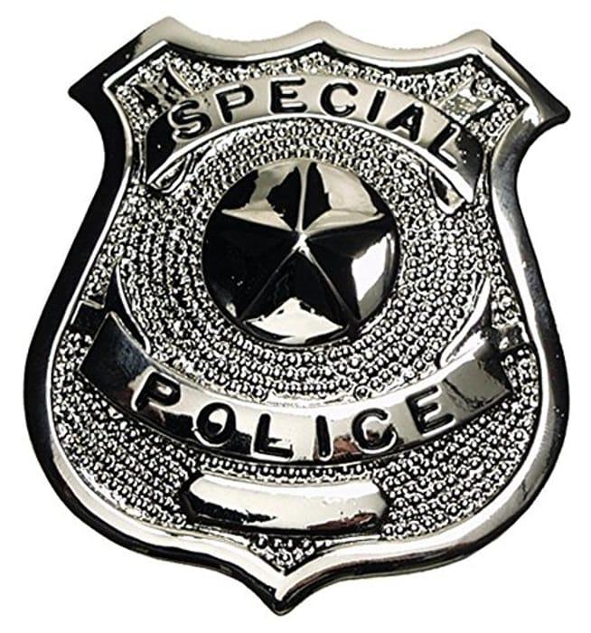 "Metal Police Badge ""Special Police"" - Toy/prop/fancy Dress"