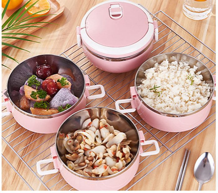 Multi-Layer Insulated Stainless Steel Lunch Box for £3.99