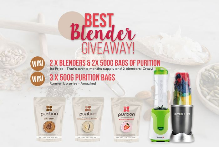 Win 2 X Blenders & 2 X 500g Bags of Puriton