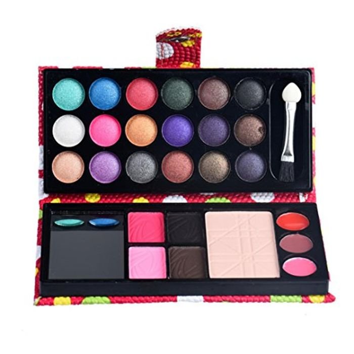 26 Colors Eye Shadow Makeup Palette + Lip Gloss Powder Set