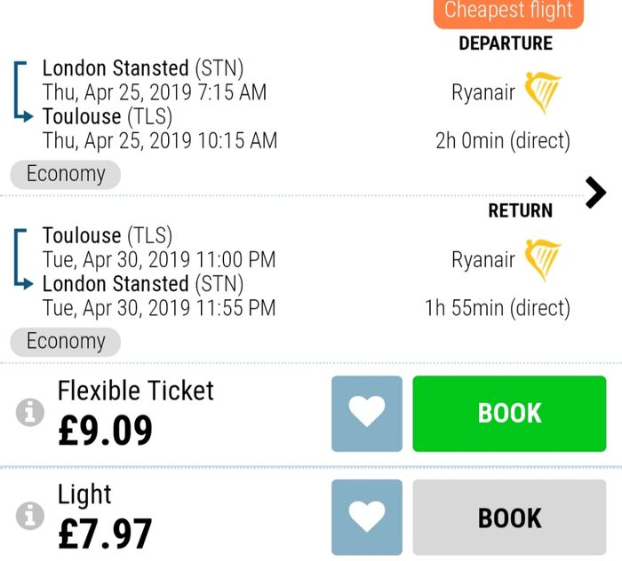 Bargain Flight! £8 Return from London to Tolouse (France)