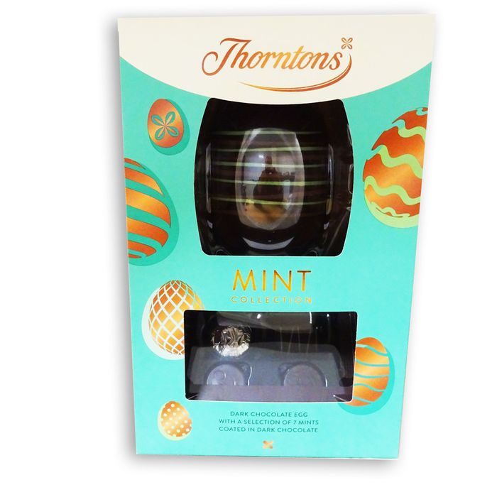 Thorntons Mint Collection Dark Chocolate Egg with Mints 226g
