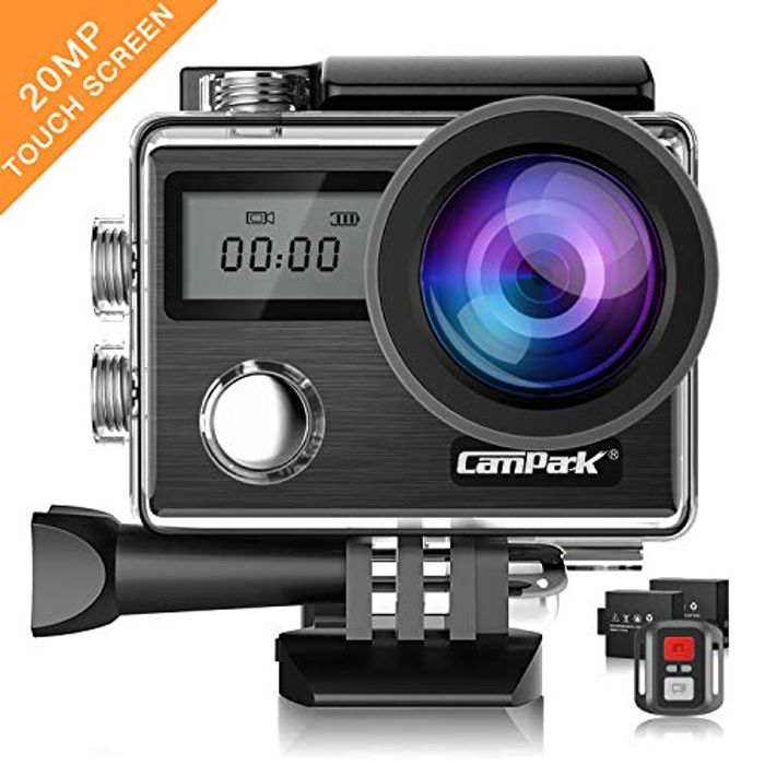 Campark X20 4K 20MP Action Camera with EIS Touch Screen Adjustable View