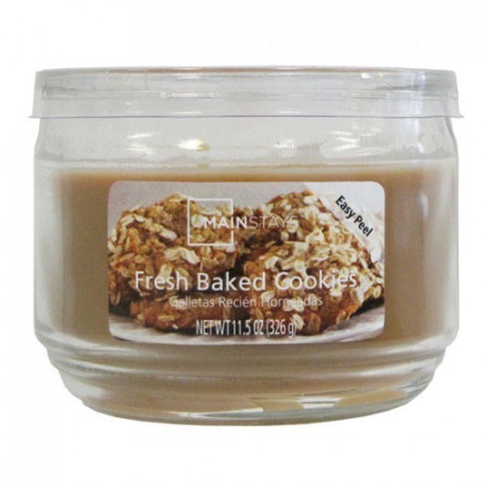 6 Large Fresh Baked Cookies Candles (326g X 6)