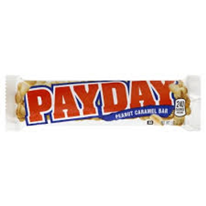 CASE of 24 Hersheys Payday Peanut Caramel Bar 24x52g £4.50 + P&P