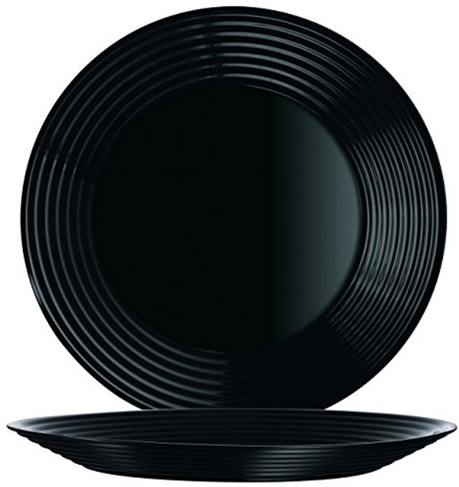 6 Pcs. Black Plates