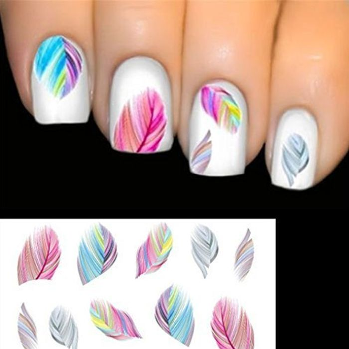 ELENXS Beauty Accessories Nail Art Water Transfer Decal Sticker Rainbow Dreams