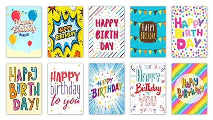 "20""Words"" Design Birthday Cards"