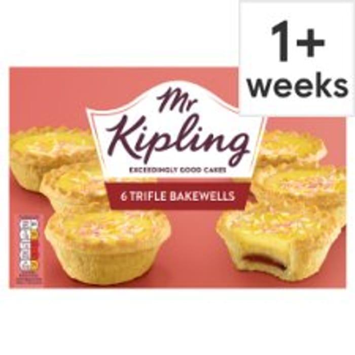 Mr Kipling Cherry Bakewells/Trifle Bakewells /Mini Battenberg Half Price