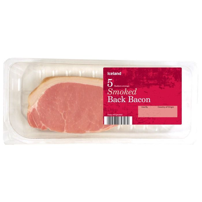 Iceland 5 Rasher Smoked Back Bacon 150g