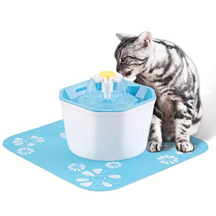 KOOPAO 1.6L Pet Cat Water Fountain Dispenser