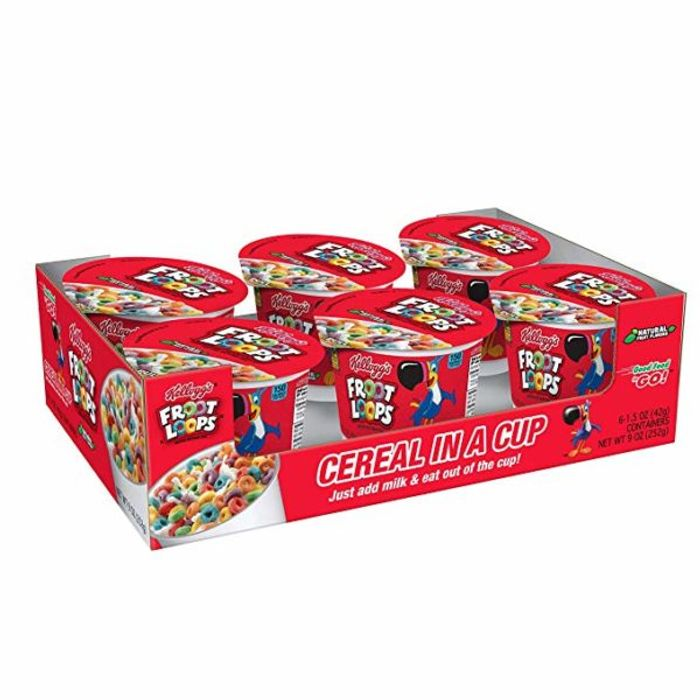 Kelloggs Froot Loops Cereal-in-a-Cup 6-Pack