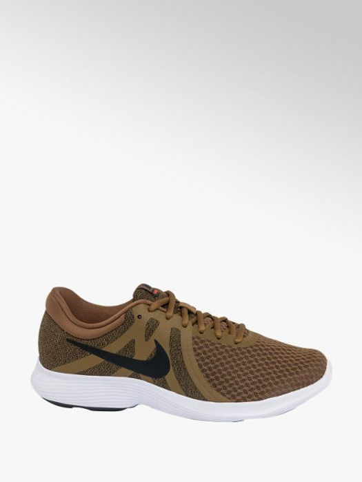 Mens Nike Revolution 4 Olive Trainers