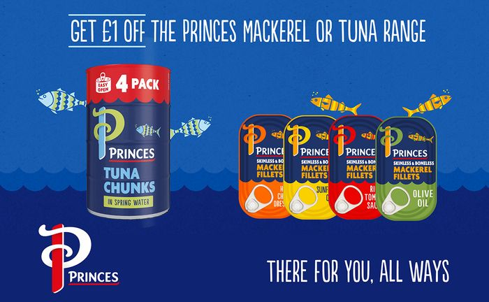 £1 off Princes Tuna or Mackeral