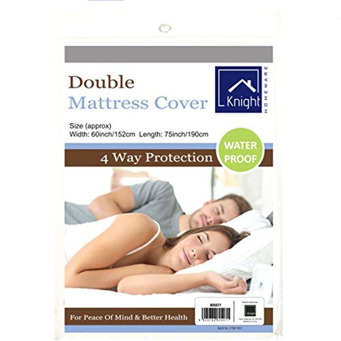 Knight Waterproof Mattress Protector Cover (Double (190cm X 152cm)