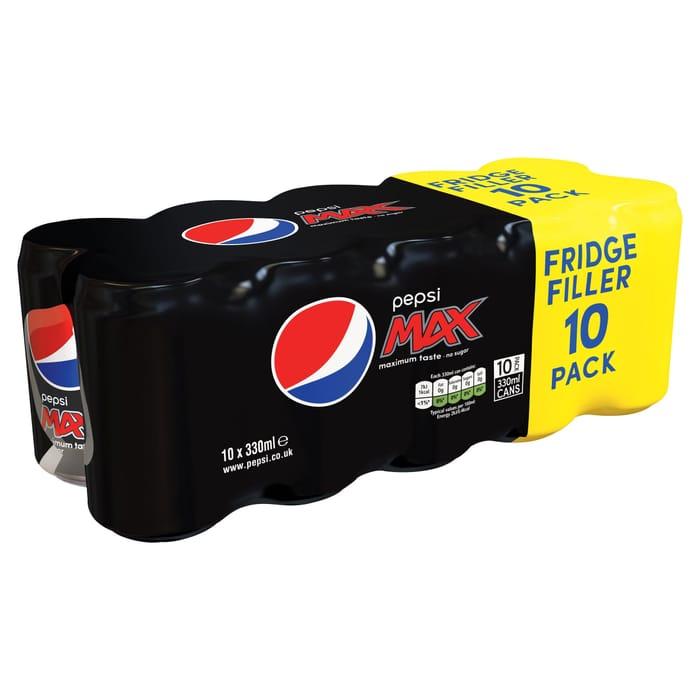 Pepsi Max 10 X 330ml 2 for £6