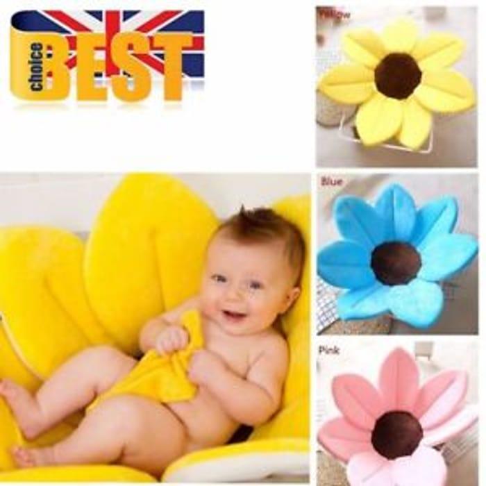 Baby Blooming Bath Tub Mat Infant Flower Lotus Petals Washcloths Newborn Gift