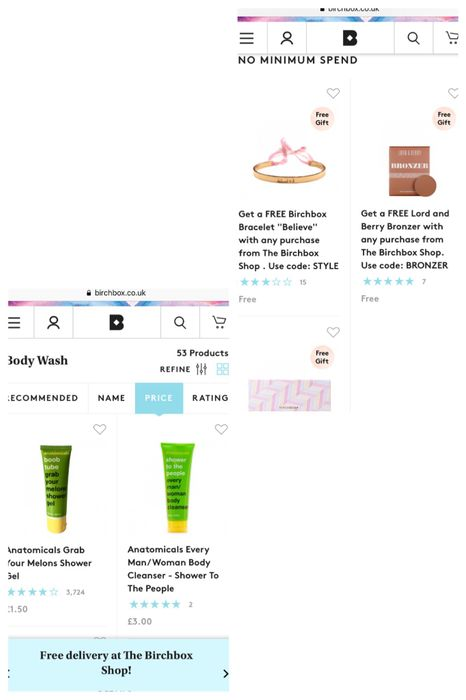 Deal Stack Birchbox Body Wash For 1 50 Free Gift Free Postage