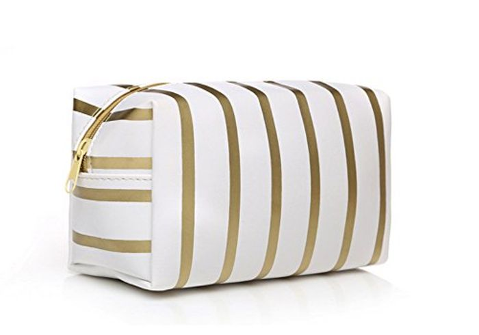 Super Cheap, Cute Gold Makeup Bag