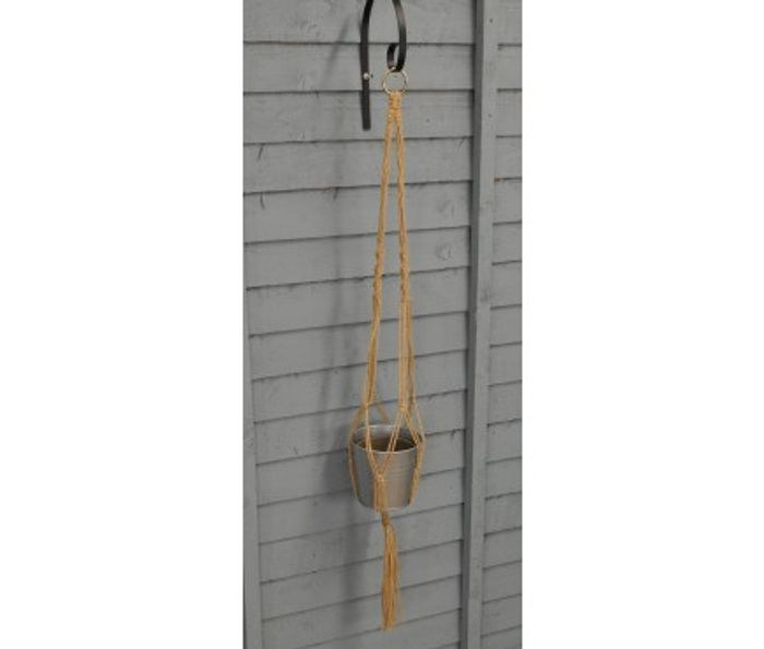 Set of 4 Jute Rope Hanging Plant Pot Holders (30cm)