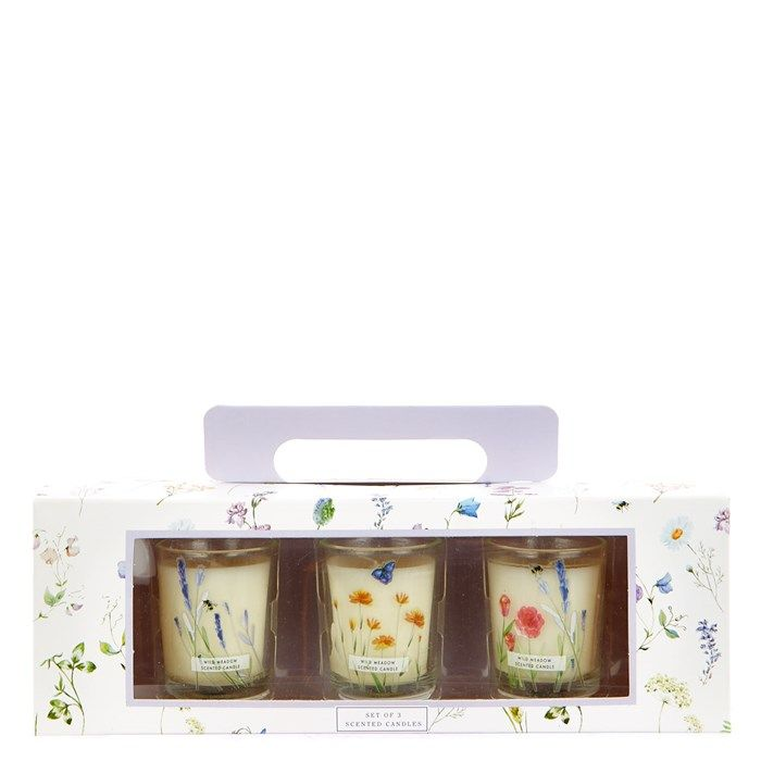 Mother's Day Wild Meadow Scented Candles - Set of 3 a Scent-Imental gift!.99