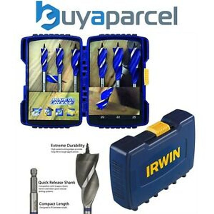 Details about Irwin Groove Power Drill Bit 6 Piece Set 14 16 18 20 22 25mm