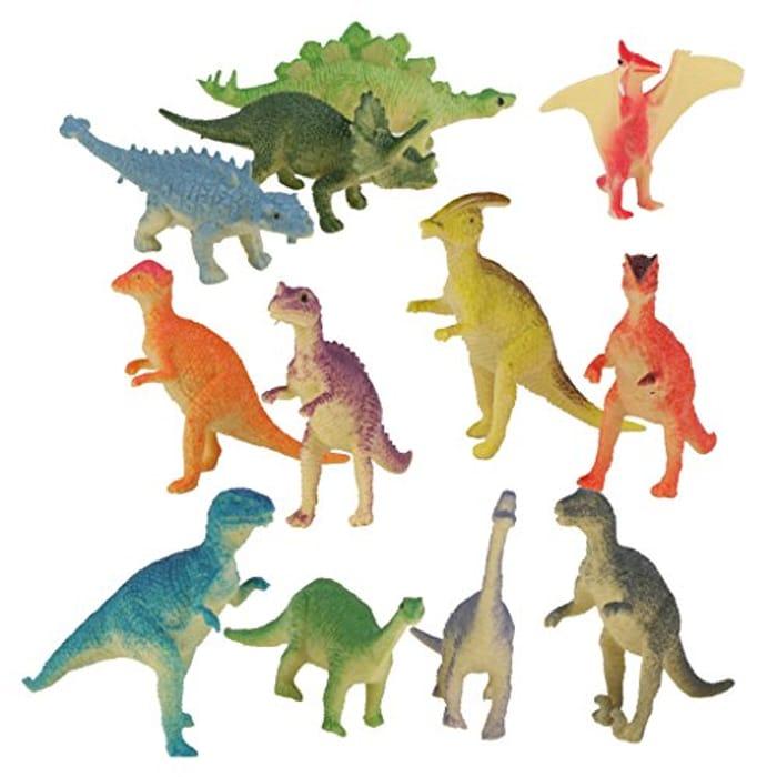 12pc Plastic Model Jurassic Dinosaur Figures Multi-color